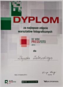Dyplom BZWBK PRESS FOTO